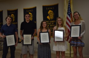 This year's Benevolent Scholarship Fund winners (L-R): Matthew R. Podolek (LU 1005), Matthew Glarner (LU 1009), Stephanie Pasteka (LU 1005), Julia Kirkpatrick (LU 694) and Dana Ruceretto (LU 1007).