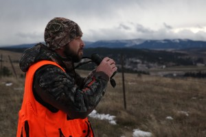 Stephen Lefaver glasses Montana's vast landscape in search of a monster whitetail or mule deer.