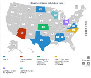 voter suppression laws map