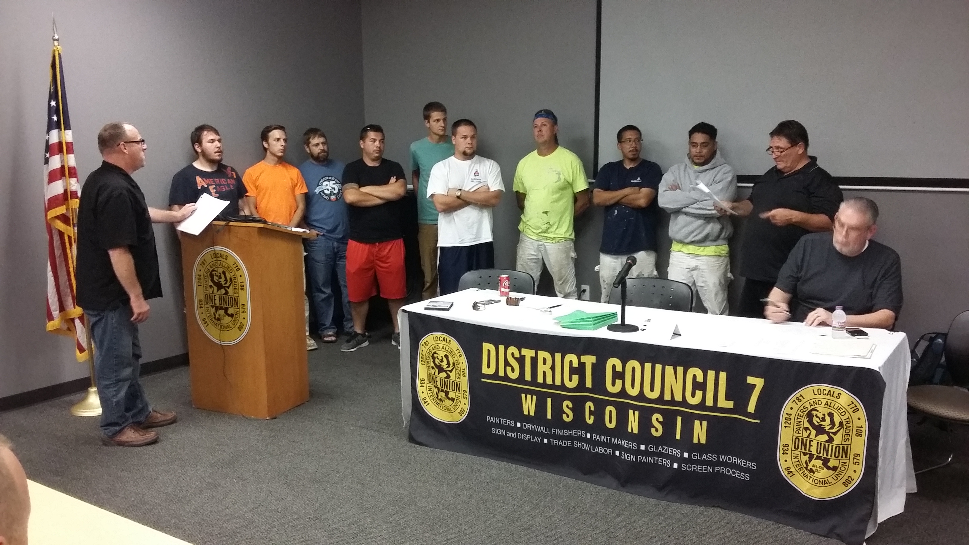 DC 7's newest apprentices are sworn in at the monthly meeting of LU 781.