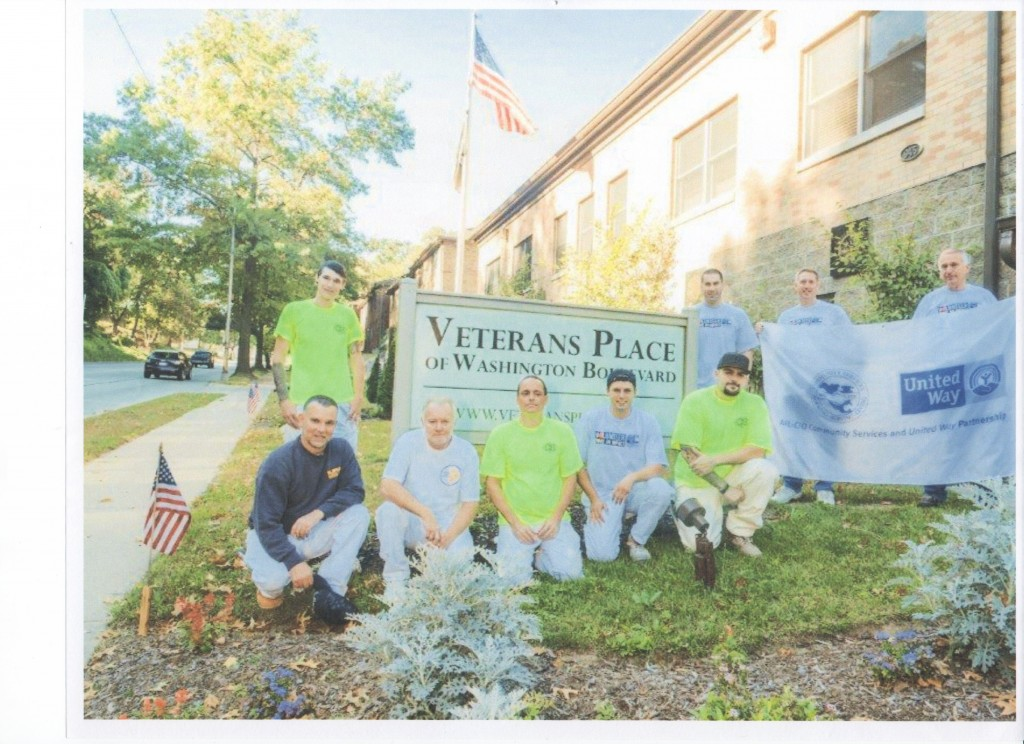 Members of DC 57 collectively volunteered to paint at The Veteran's Place in Pittsburgh.