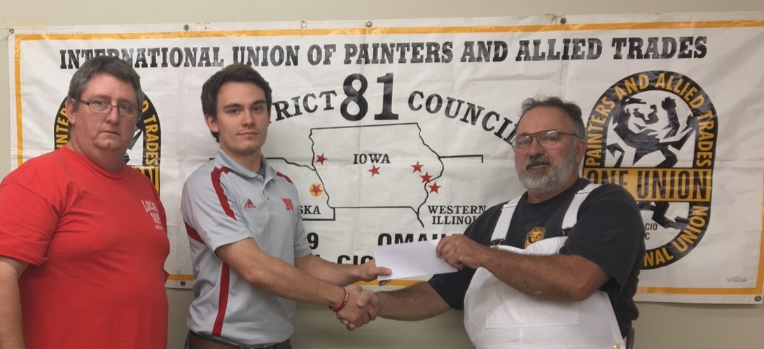 """Benjamin Stoysich received the S. Frank """"Bud"""" Raftery Scholarship in October 2016."""